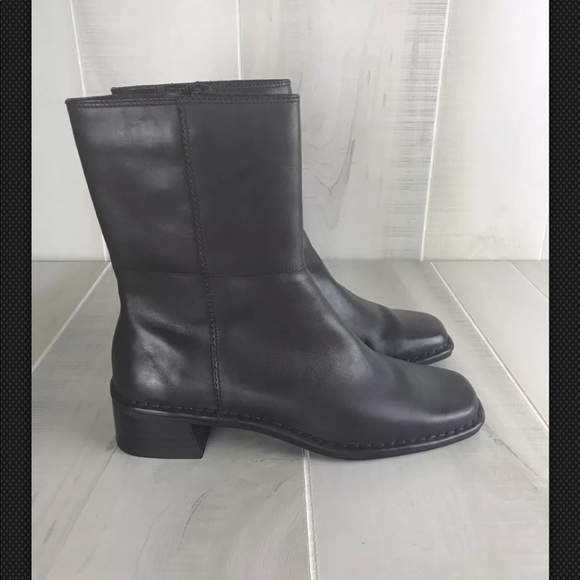 Bandolino Shoes   Mid Calf Leather Boots   Poshmark 3ead4f4ce0
